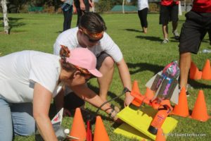 launching rockets team building event corporate