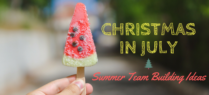 Christmas in July summer team building