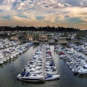newport dunes aerial marina photo