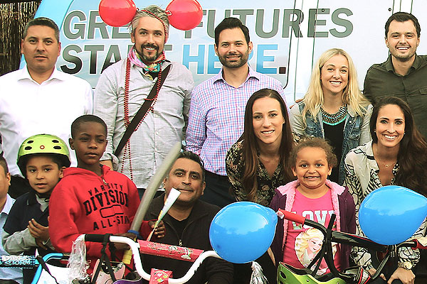 corporate team building charity bike build
