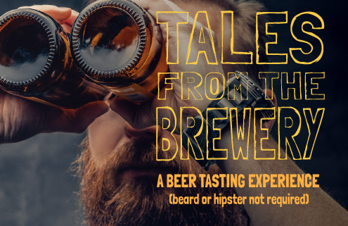 Virtual beer tasting class promo image