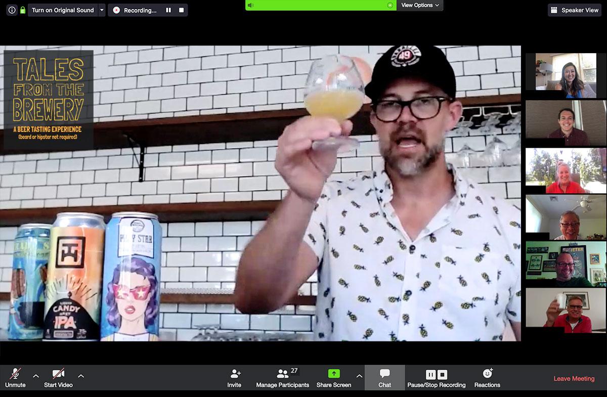 virtual online beer tasting class