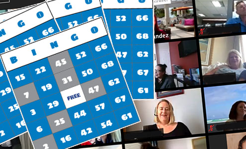 bingo cards for online virtual bingo game