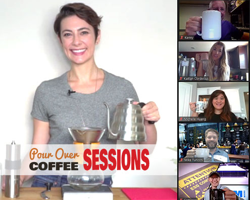 virtual pour over coffee class promo image