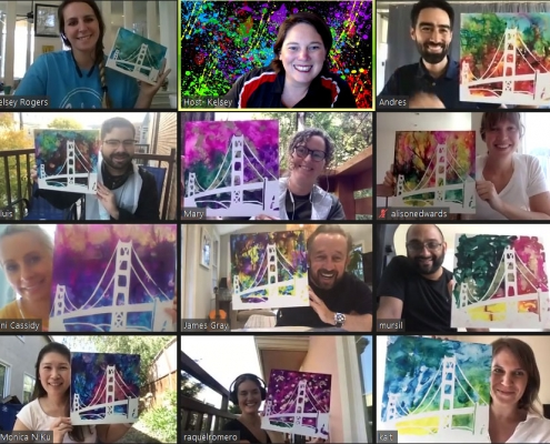 zoom art class finish artwork virtual