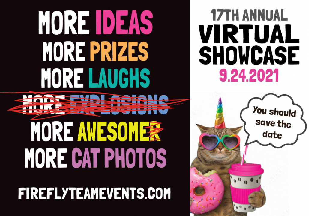 event banner featuring a cat unicorn